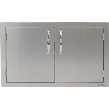 "Alfresco AB-XX XX"" Double Sided Access Doors with All-welded Commercial Stainless Steel Design, Integrated Storage Rails, and Polished Steel Handles in Stainless Steel"