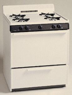 Premier GFK100T  Gas Freestanding Range with Open Burner Cooktop, 3.9 cu. ft. Primary Oven Capacity, Broiler in Bisque