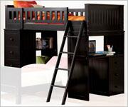 Acme Furniture 10980 Willoughby Series  Twin Size Loft Bed