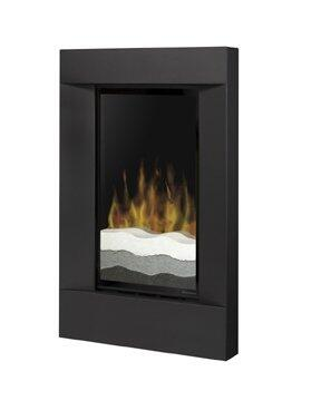 Dimplex V1525RTBLK Wall Mountable Electric Fireplace