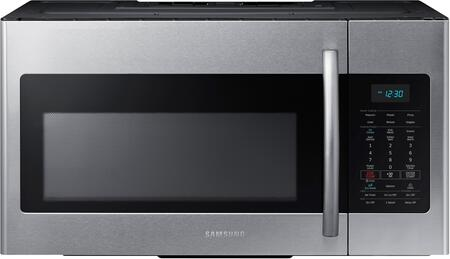 Samsung ME17H703SH 1.7 cu. ft. Over The Range Microwave with 1000 Watts of Cooking Power, Auto Defrost, 10 Power Levels, 300 CFM Ventilation System, Sensor Reheat, Interior Lighting and Child Safety Lock in