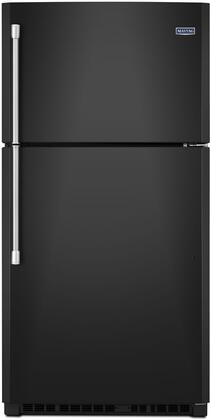 "Maytag MRT711SMF 33"" Top Freezer Refrigerator with 21.24 cu. ft. Capacity, EvenAir Cooling Tower, PowerCold, BrightSeries LED Lighting, and Ice Maker"