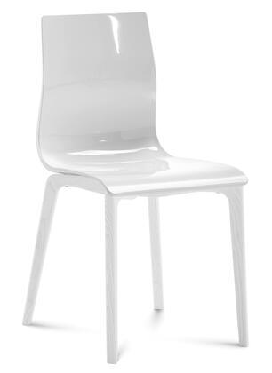 Domitalia GELSLSFLBOSSBI Gel Series Transitional Wood Frame Dining Room Chair