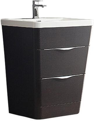 """Fresca FCB8525XXI Milano 26"""" Modern Bathroom Cabinet w/ Integrated Sink in"""