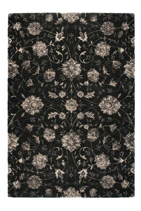 Citak Rugs 3740-050X Riverside Collection - Laurel - Charcoal