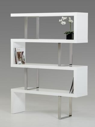VIG Furniture VGBBMD105WHT Modrest Maze Series Wood  Bookcase