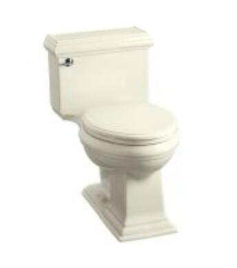 Kohler K-3812- Memoirs Comfort Height One Piece Elongated 1.28gpf Toilet with Classic Design in