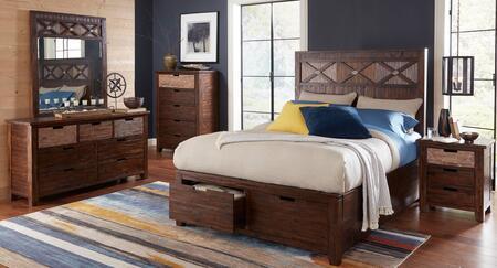 Jofran 1603QPBDMN Painted Canyon Queen Bedroom Sets