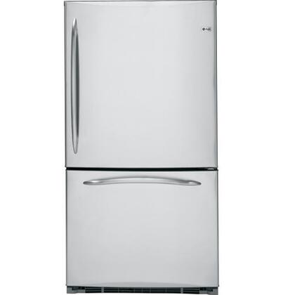 GE PDCS1NCZLSS  Bottom Freezer Refrigerator with 20.9 cu. ft. Capacity in Stainless Steel