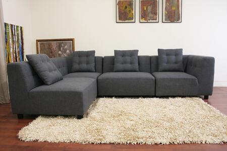 Wholesale Interiors TD0902A22714ANOARM Alcoa Series Modular Sofa