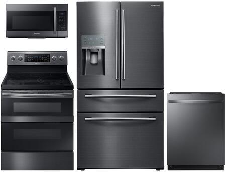 Samsung 602407 Black Stainless Steel Kitchen Appliance Packa