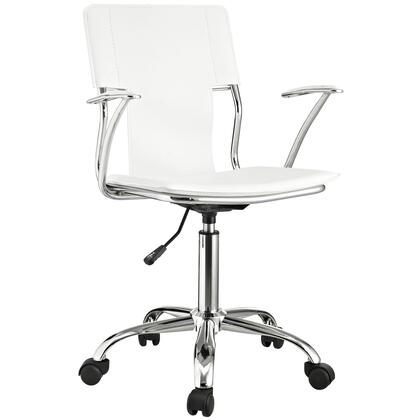 "Modway EEI198WHI 22"" Adjustable Contemporary Office Chair"