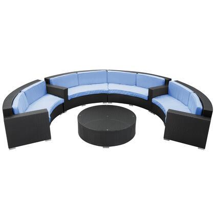 Modway EEI612EXPLBUSET Modern Round Shape Patio Sets