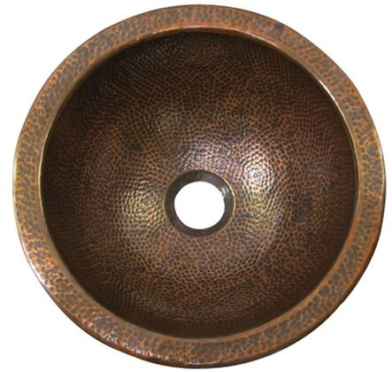 Small Round Undermount Basin with Hammered Antique Copper Finish