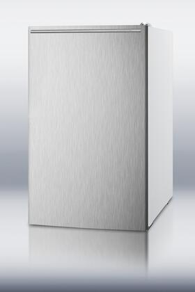 """AccuCold FS407LXSSA 20"""" Medically Approved ADA Compliant Compact Freezer with 2.8 cu. ft. Capacity, Pull Out Drawers, Manual Defrost, Fully Finished Cabinet and Adjustable Thermostat in Stainless Steel"""
