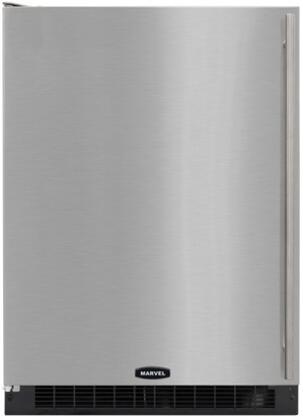 "Marvel 6ARM-BS-F-X  24"" Energy Star Under Counter Built In Compact Refrigerator with 103 12-Oz Can Capacity, Spill Proof Adjustable Glass Shelves, Interior Lighting and Door Storage: Stainless Steel with"