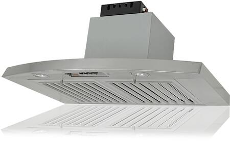 "Kobe RA283 x CFM Under Cabinet Hood with Three Speed Controls, QuietMode, Energy Saving and High Efficiency LED Lights and Top - 6"" Round Exhaust Duct in 18-Gauge Commercial Grade Stainless Steel"