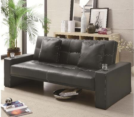 Coaster 300125 Sofa Beds Series Convertible Faux Leather Sofa