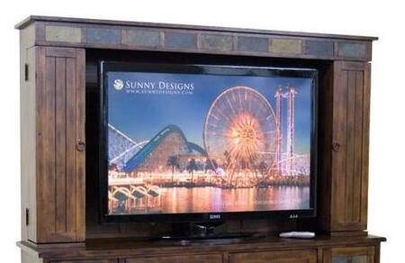Sunny Designs 3322DCMH Santa Fe Series Entertainment with 5 Shelves