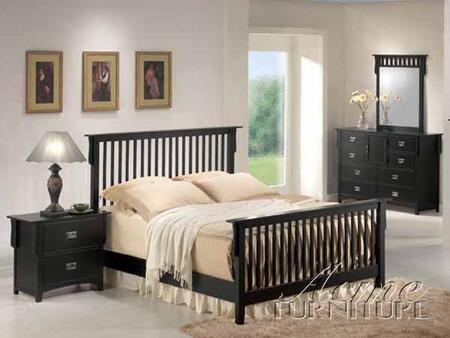 Acme Furniture 01757AEK Ridgeville Series  Sleigh Bed
