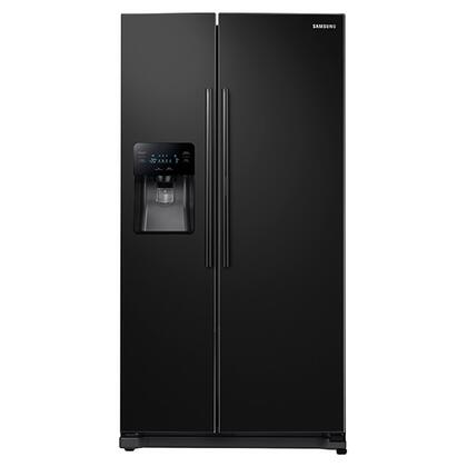 """Samsung RH25H5611 36"""" Side-By-Side Food ShowCase Fridge Door Refrigerator with 24.7 cu. ft. Capacity, Twin Cooling System, External Water and Ice Dispenser, and Energy Star Qualified in"""