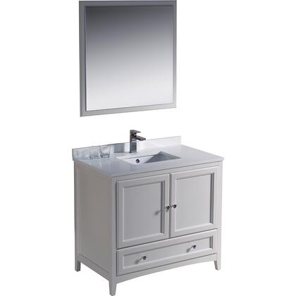 "Fresca Oxford Collection FVN2036 36"" Traditional Bathroom Vanity with 2 Soft Close Doors, Soft Close Dovetail Drawer and Tapered Legs in"