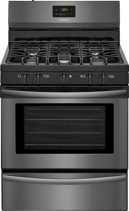 "Frigidaire FFGF3052T 30"" Freestanding Gas Range with 4.2 cu. ft. Capacity, 2 Oven Racks, Backguard, Broil and Serve Drawer, 5 Sealed Gas Burners, and Quick Boil, in"