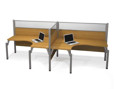 Bestar Furniture 100856B Pro-Biz Double side-by -side L-desk workstation