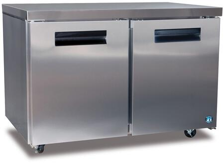 """Hoshizaki CRMRXX 48"""" Commercial Undercounter Refrigerator with 13.66 cu. ft. Capacity, Stainless Steel Exterior, 2 Epoxy Coated Shelves, Stepped Door Design, and Field Reversible Doors, in Stainless Steel"""