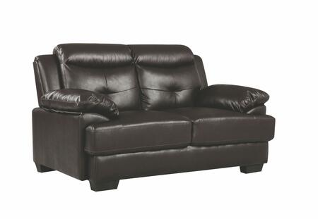 Glory Furniture G488L G480 Series Faux Leather Stationary with Wood Frame Loveseat