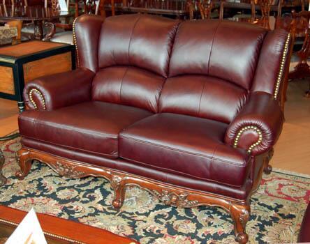 Yuan Tai SL1092L Solomon Series Leather Sofa with Wood Frame Loveseat