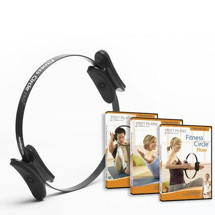 MERRITHEW DV8031 Fitness Circle with Three Exercise DVDs