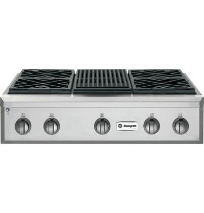 GE Monogram ZGU364NRPSS  Sealed Burner Style Cooktop, in Stainless Steel
