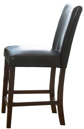 Standard Furniture 10814 Contemporary Faux Leather Wood Frame Dining Room Chair