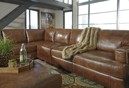 Signature Design By Ashley Vincenzo Leather Sectional Sofa