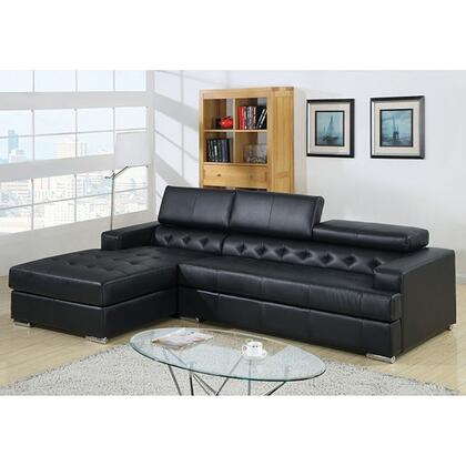 "Furniture of America Floria Collection CM6122XX-PK 118"" 2-Piece Sectional with Left Arm Facing Chaise and Right Arm Facing Sofa in"