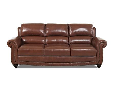 Klaussner ROMANOSOFA Romano Series Stationary Leather Sofa