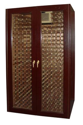Vinotemp 600E-G 440 Bottle Double Glass Door Wine Cabinet with Wine Mate Cooling,