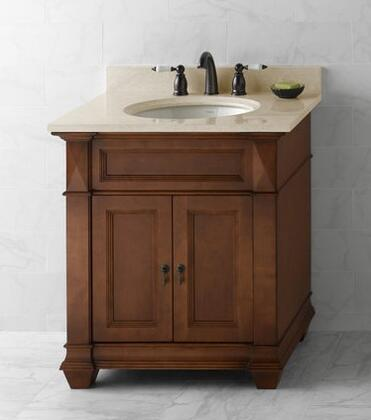 """Ronbow 062830-Torino 30"""" Wood Vanity Cabinet with Double Wood Doors and Shelf Inside"""