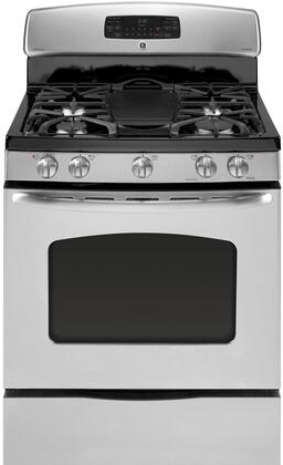 GE JGB605SETSS  Gas Freestanding Range with Sealed Burner Cooktop, 5.0 cu. ft. Primary Oven Capacity, Storage in Stainless Steel