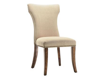 Stein World 47812 Abilene Series Armless Fabric Wood Frame Accent Chair