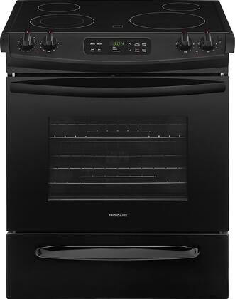"""Frigidaire FFES3026Tx 30"""" ADA Compliant Slide In Electric Range with 4.6 cu. ft. Capacity, 4 Elements, Self-Clean Function, 2 Racks, and Storage Drawer, in"""