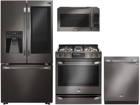 LG Studio 710740 Black Stainless Steel Kitchen Appliance Pac