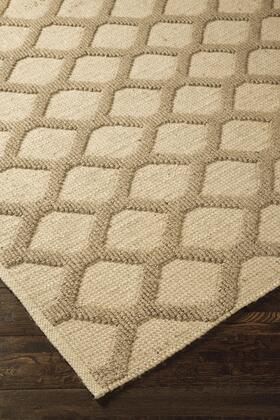 "Signature Design by Ashley Baegan R40026 "" x "" Size Rug with Gate Trellis Design, Hand-Woven and Jute Material in Natural Color"