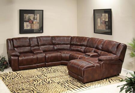 Novo Home 35007PC  Curved Leather Sofa