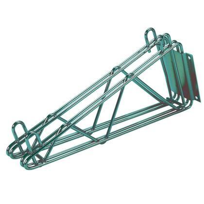 Advance Tabco GDB Double Mounted Wall Shelf Bracket in Green Epoxy Finish