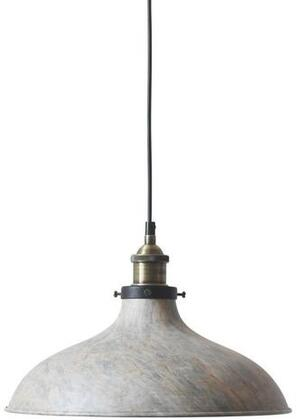 "EdgeMod Southel Collection 13.75"" x 8.75"" Pendant Lamp with Black Cord, Fully Dimmable, Painted Marble Shade, LED Light Compatible, Iron and Aluminum Construction in"
