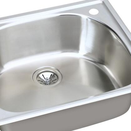 "Elkay ECG25220 Harmony 25"" Top Mount Single Bowl Stainless Steel Sink"