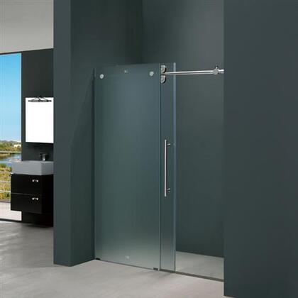 "Vigo VG6041XXMT6074R 60"" Frameless Shower Door 3/8"" Frosted Glass with X Right Hardware"