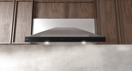 Elica EMD53S3 Techne Series Modena Under Cabinet Hood with 520 CFM Blower, LED Lighting, CFM Reduction, and Hush System, in Stainless Steel with Black Glass